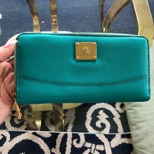 Ralph Lauren turquoise wallet
